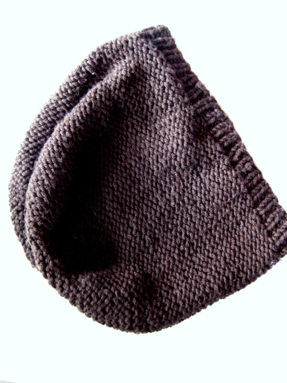 Bastelschaf Beanie-Mütze braun Anleitung kostenlos