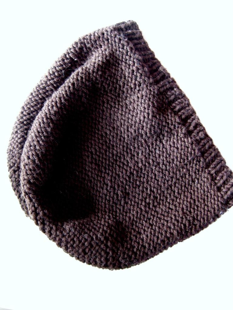Mütze stricken glatt links einfach