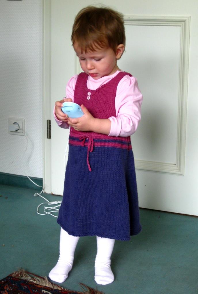 Anleitung Kleid für Kinder stricken
