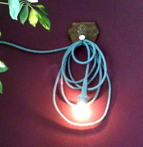 Anleitung Stricklampe Kabel umstricken umhäkeln
