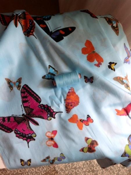 Stoff Schmetterlingsmuster