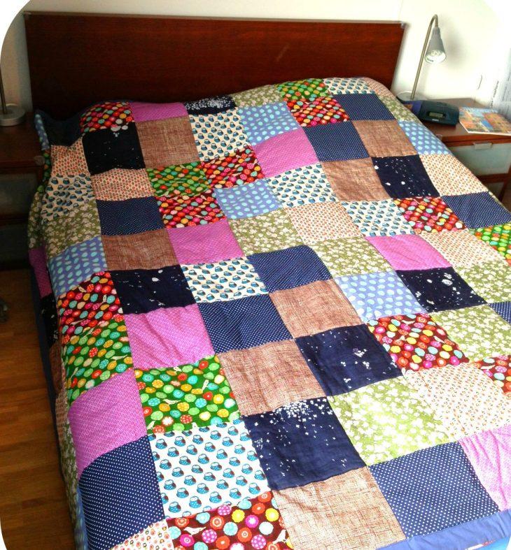Patchworkdecke Quilt nähen Anleitung kostenlos