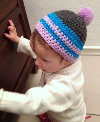 Kindermütze mit Pompon häkeln