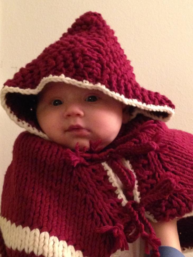 Baby Poncho Cape stricken Anleitung kostenlos