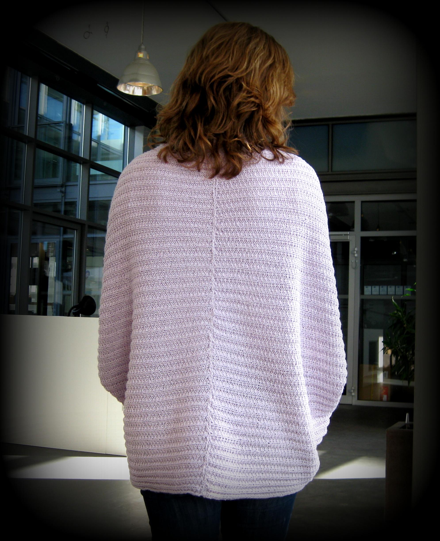 Kuscheldecke zum Anziehen: Strickjacke Chloe   Neues vom Bastelschaf