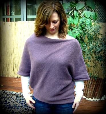 Pullover aus Viereck stricken