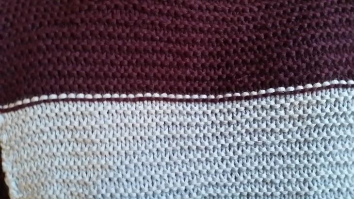Farbwechsel bei kraus-rechts Muster