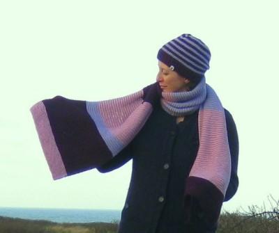 Schal aus dicker Wolle stricken Anleitung kostenlos