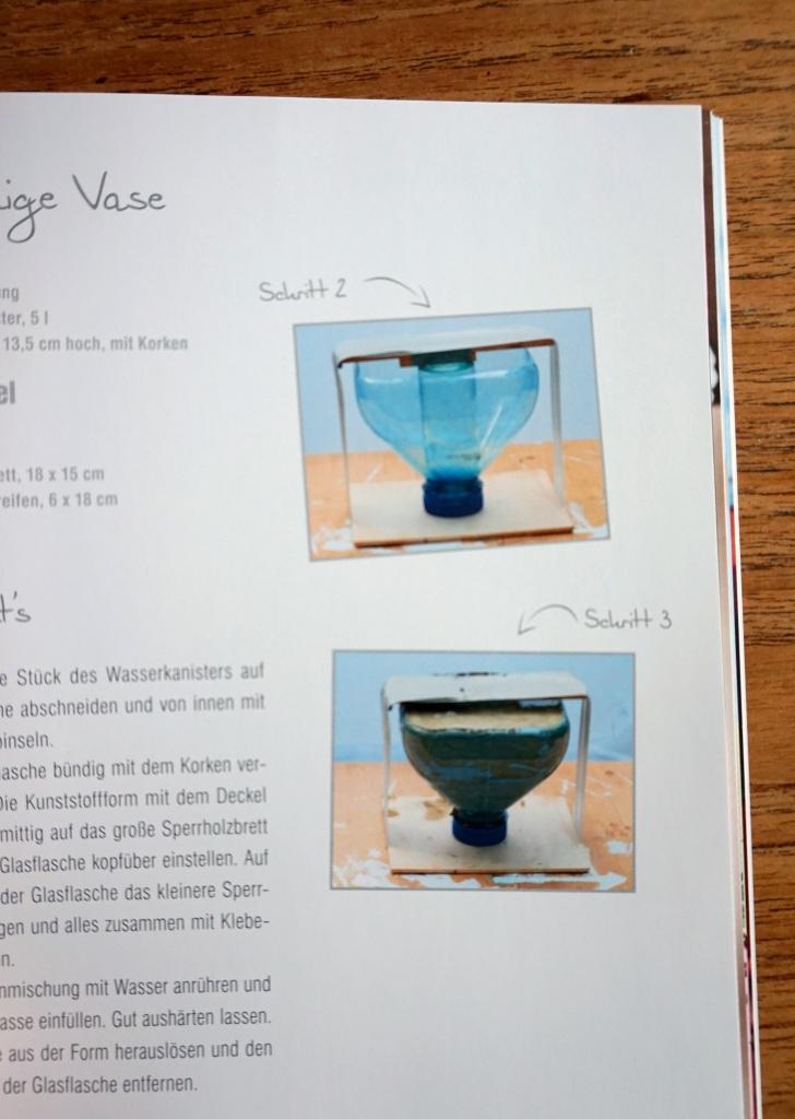 Vase aus Flasche basteln