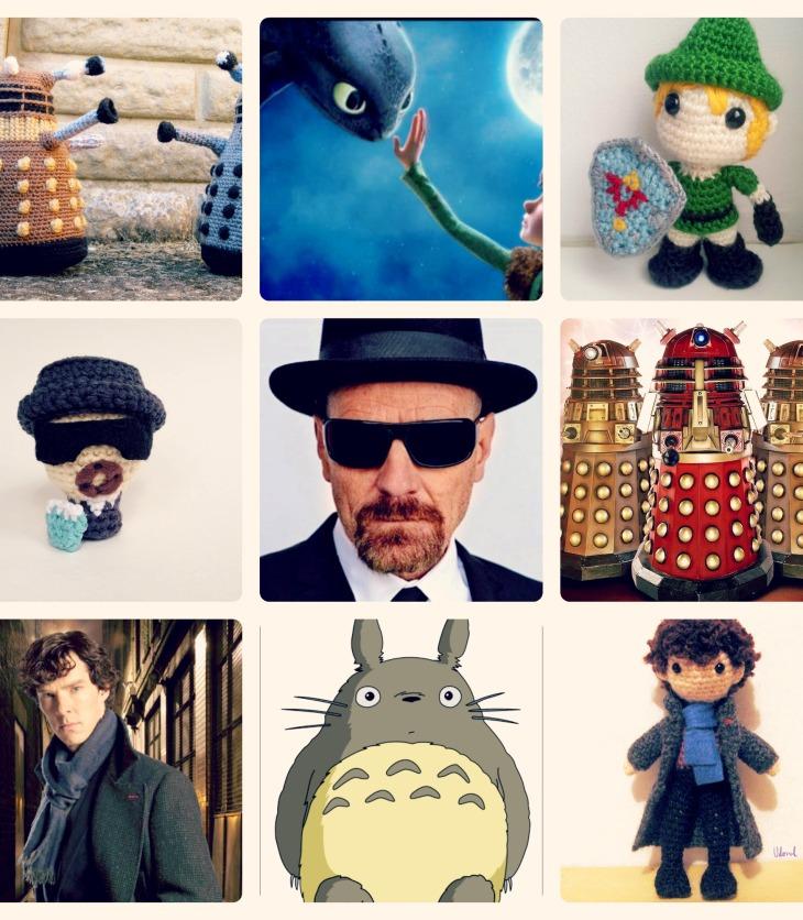 Amigurumi Sherlock Dalek Breaking Bad Ohnezahn