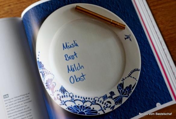 Auf Porzellan schreiben Anleitung