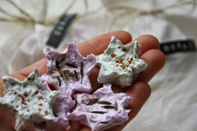 Samenbombe aus Papiermache