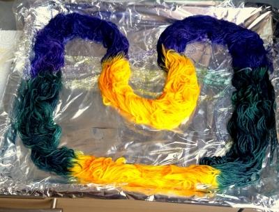 Wolle färben Ashford Farben