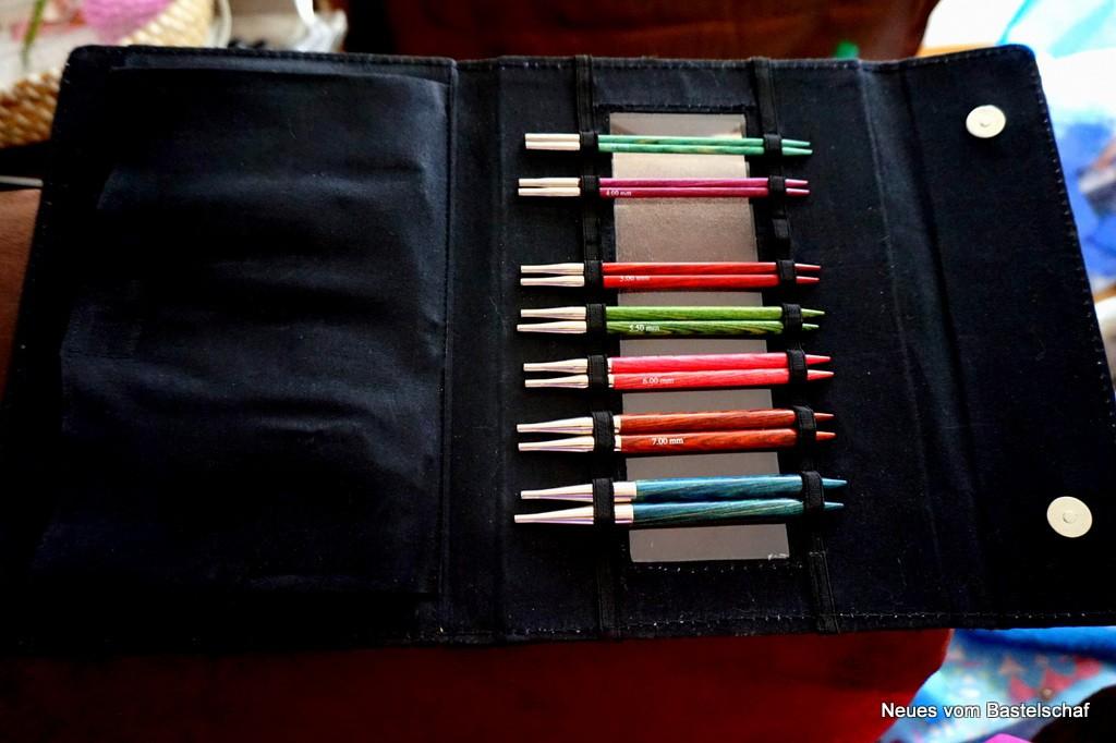 Tasche für Stricknadeln