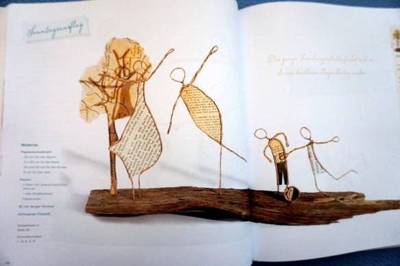 Basteln Papier Draht Buch
