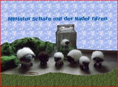 Anleitung Schafe Nadelfilzen