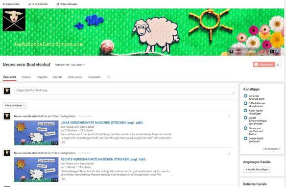 Strickvideos Bastelschaf Youtube