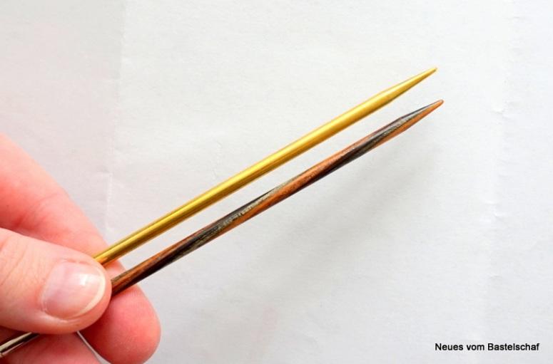 Lace-Nadel Unterschied normale Stricknadel