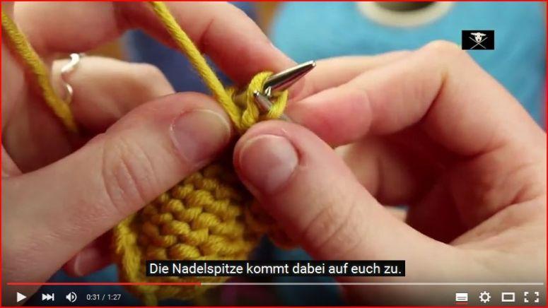 Stricken lernen Video Anleitung links verschränkte Maschen