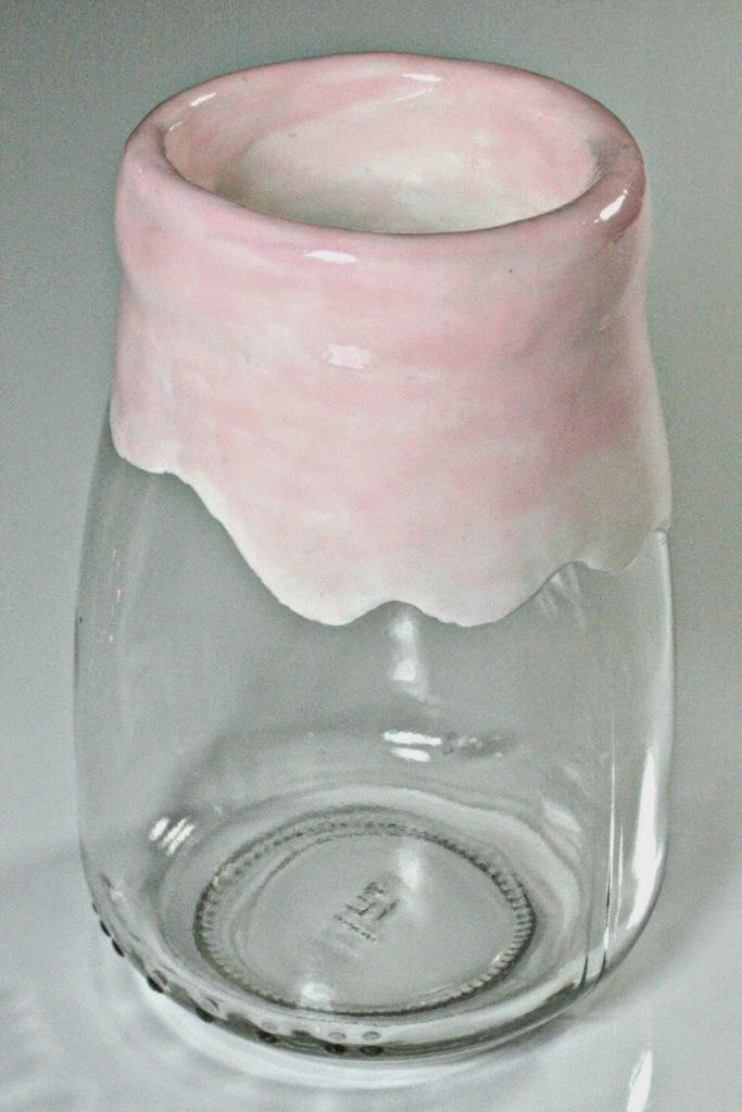 Vase mit Nagellack selber machen