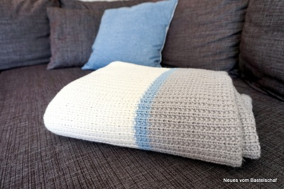 Tagesdecke Plaid Sofa stricken einfach Anleitung