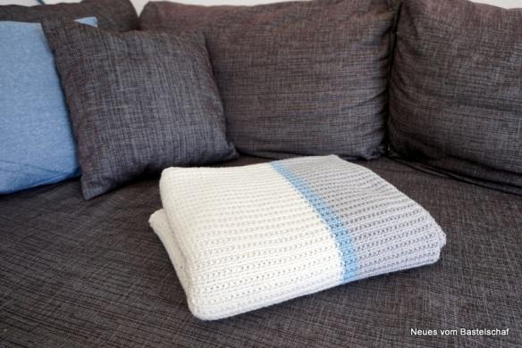 Sofadecke stricken Anleitung einfach kostenlos