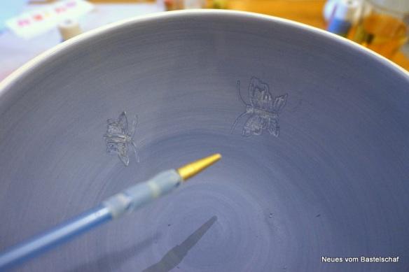 Keramik Muster kratzen