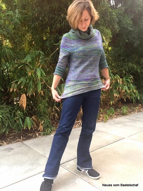 Asymetrischer Pullover stricken