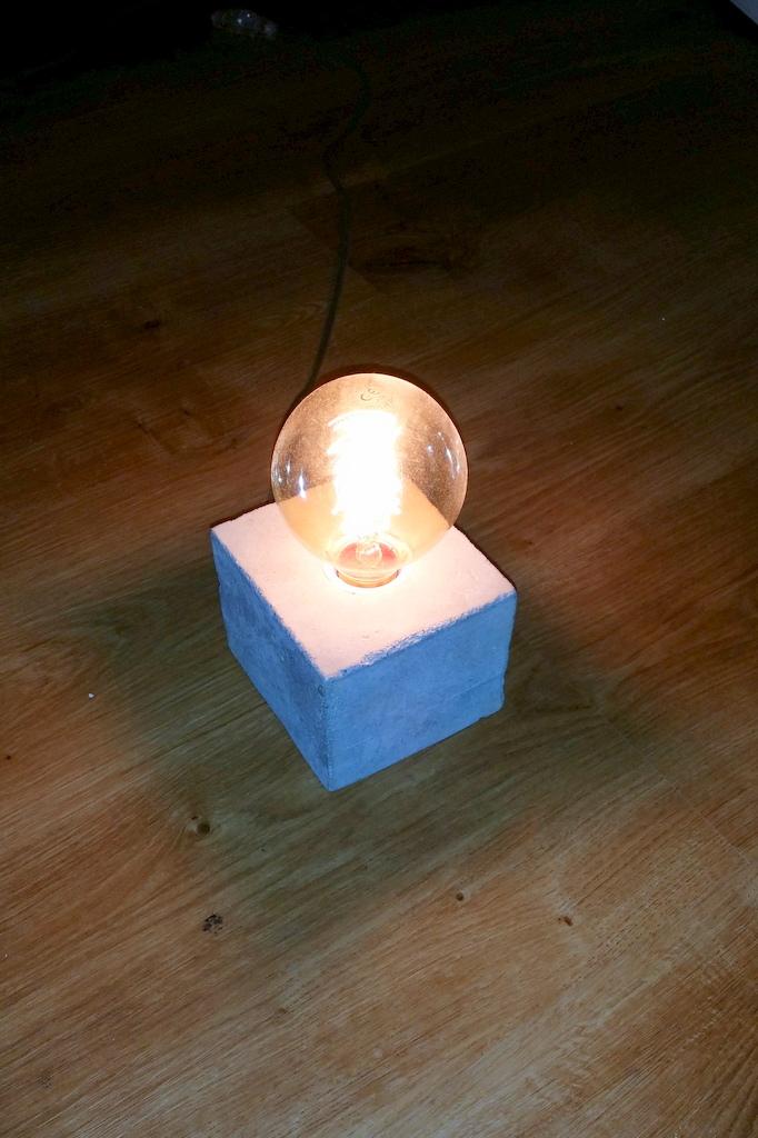 Stylische Beton Lampe Selber Machen Neues Vom Bastelschaf