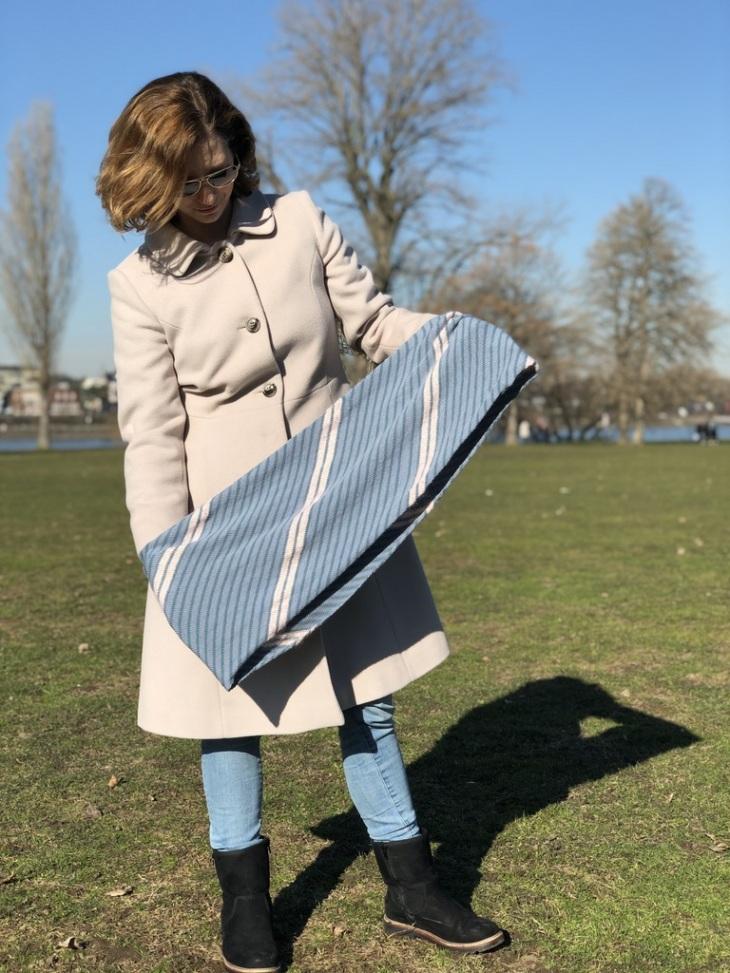 Bastelschaf Anleitung kostenlos Loop stricken dünne Wolle